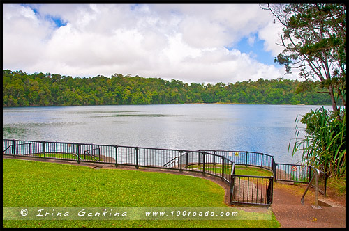 Озеро Ичам, Эчем, Lake Eacham, Плато Атертон, Atherton Tableland, Queensland, Квинсленд, QLD, Австралия, Australia