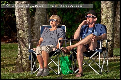 Полное солнечное затмение, Cairns Eclipse 2012, Palm Cove, Queensland, Квинсленд, QLD, Австралия, Australia
