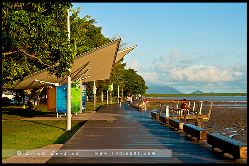 Набережная Кэрнса, Cairns Esplanade, Кэрнс, Cairns, Queensland, Квинсленд, QLD, Австралия, Australia