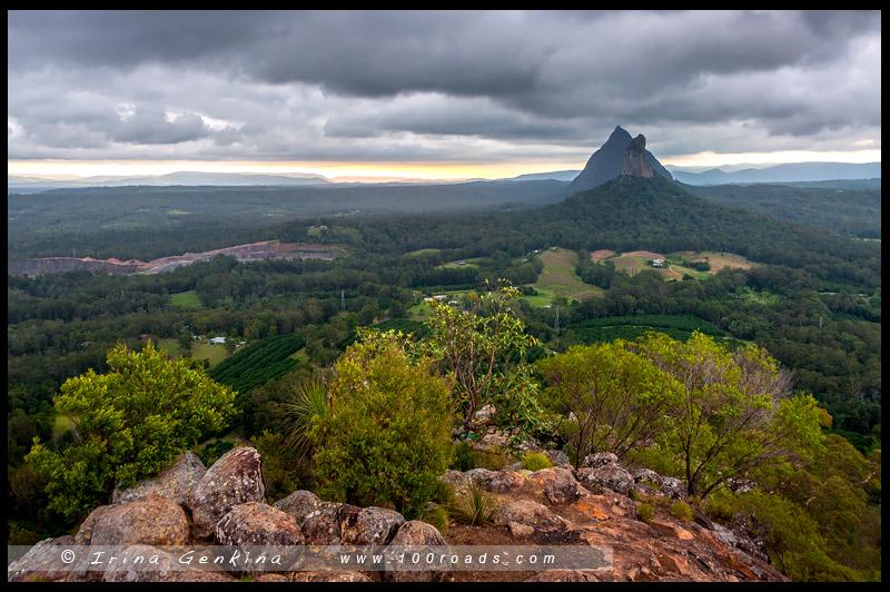 Гора Нгунгун, Mount Ngungun, Национальный парк Горы Гласс-Хаус, Glasshouse Mountains National Park, Квинсленд, Queensland, Австралия, Australia