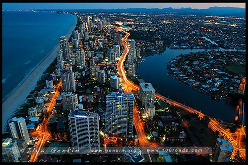 Серферс Парадайз, Surfers Paradise, Золотое побережье, Gold Coast, Квинсленд, Queensland, Австралия, Australia