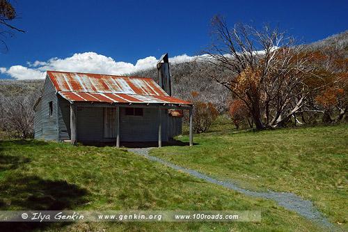 Брэдли Хат, Bradley's Hut, Снежные горы, Snowy Mountains, Австралия, Australia