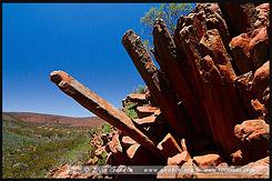 Органные трубы, Organ Pipes, Горная цепь Гавлер, Gawler Ranges, Полуостров Эйр, Eyre Peninsula, Южная Australia, South Australia, Австралия, Australia
