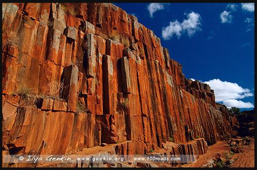 Kolay Mirica Falls, Горная цепь Гавлер, Gawler Ranges, Полуостров Эйр, Eyre Peninsula, Южная Australia, South Australia, Австралия, Australia