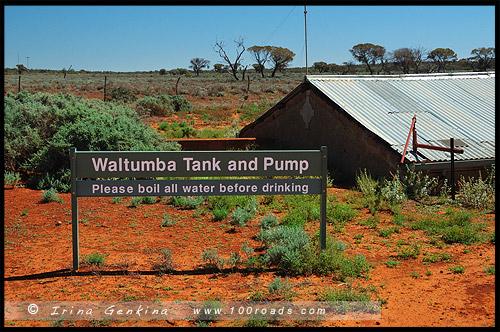Waltumba Tank and Pump, Озеро Гэднэ, Озеро Гарднер, Lake Gairdner, Аутбек Южной Австралии, Outback, Южная Australia, South Australia, Австралия, Australia