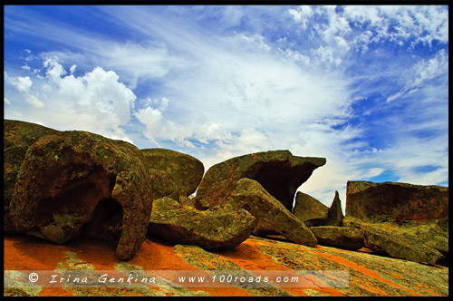 Каменные формации на Холме Уконтитчи, Ucontitchie Hill, Полуостров Эйр, Eyre Peninsula, Южная Australia, South Australia, Австралия, Australia