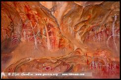 Рисунки на Arkaroo Rock, Северная цепь гор Флиндерс, Northern Flinders Ranges, Аутбек, Аутбэк, Outback, Южная Australia, South Australia, Австралия, Australia