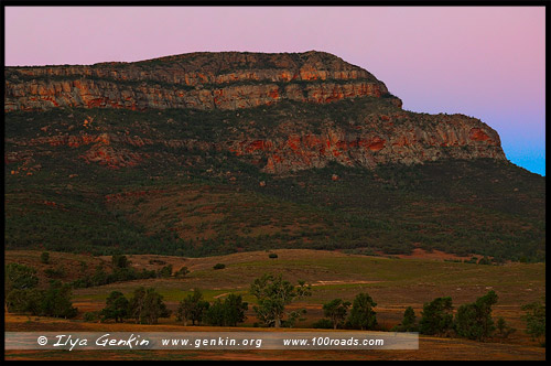 Rawnsley Bluff, Северная цепь гор Флиндерс, Northern Flinders Ranges, Аутбек, Аутбэк, Outback, Южная Australia, South Australia, Австралия, Australia