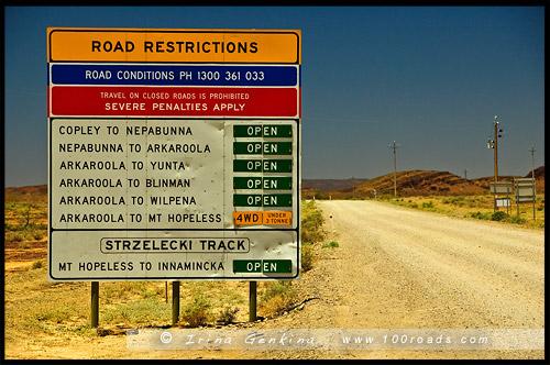 Выезд, Аркарула, Arkaroola, Северная цепь гор Флиндерс, Northern Flinders Ranges, Аутбек, Аутбэк, Outback, Южная Australia, South Australia, Австралия, Australia