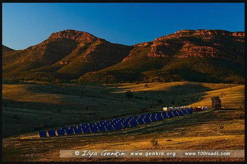 Солнечной электростанция, Solar Station, Вилпена Поунд, Wilpena Pound, Северная цепь гор Флиндерс, Northern Flinders Ranges, Аутбек, Аутбэк, Outback, Южная Australia, South Australia, Австралия, Australia