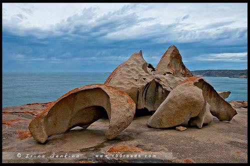 Выдающийся Скалы, Remarkable Rocks, Остров Кенгуру, Kangaroo Island, Южная Австралия, South Australia, Австралия, Australia