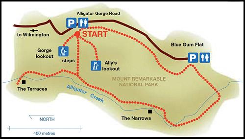 Трек, Ущелье Аллигатора, Alligator Gorge, Маунт Ремаркабл, Mt Remarkable, Южная Australia, South Australia, Австралия, Australia