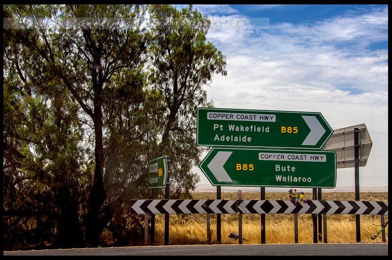 Дорога на Бурру, Южная Австралия, South Australia, Австралия, Australia