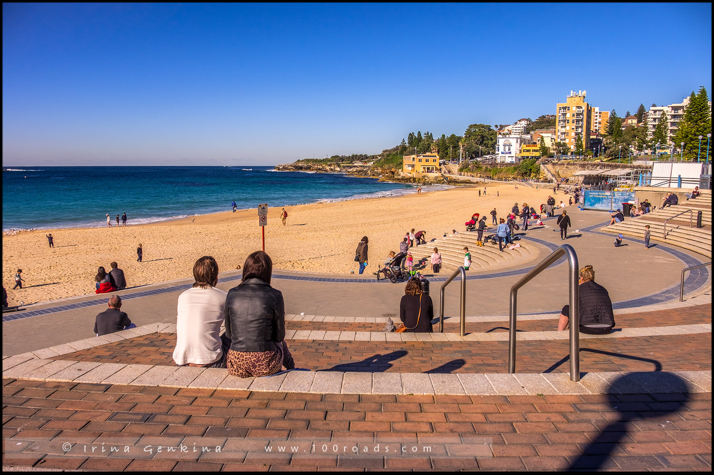 Пляж Куджи, Coogee Beach, Бондай - Куджи, Bondi to Coogee, Восточные пляжи, East Beaches, Сидней, Sydney, Новый Южный Уэльс, New South Wales, Австралия, Australia
