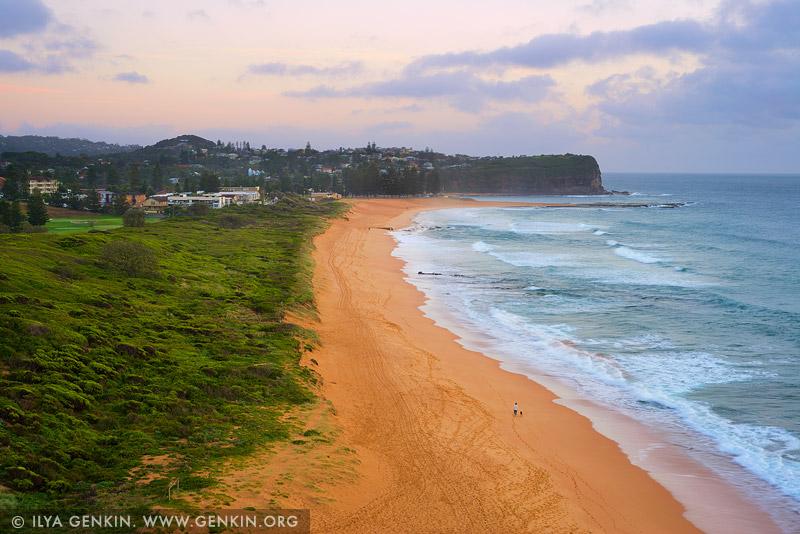 Пляж Мона Вейл, Mona Vale Beach, Северные пляжи, Northen Beaches, Сидней, Sydney, Новый Южный Уэльс, New South Wales, Австралия, Australia