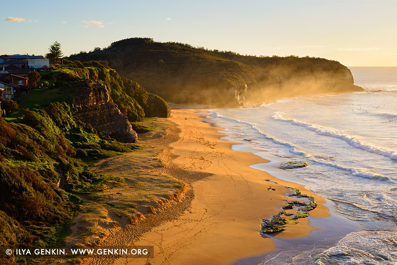 Пляж Туриметта, Turimetta Beach, Северные пляжи, Northen Beaches, Сидней, Sydney, Новый Южный Уэльс, New South Wales, Австралия, Australia