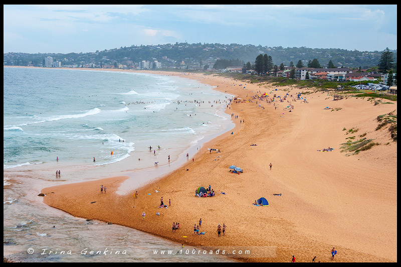 Пляж Наррабин, Narrabeen Beach, Северные пляжи, Northen Beaches, Сидней, Sydney, Новый Южный Уэльс, New South Wales, Австралия, Australia