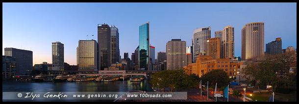 Круговая Набережная, Круглый Причал, Circular Quay, Район Рокс, Скалы, The Rocks, Сидней, Sydney, Австралия, Australia