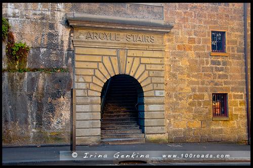 Лестница Аргайл, Argyle Stairs, Район Рокс, Скалы, The Rocks, Сидней, Sydney, Австралия, Australia