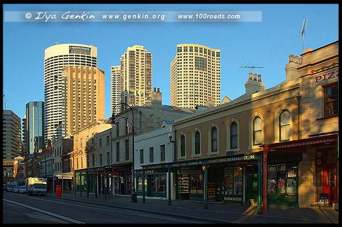 Магазины, Улица Георга, George Street, Район Рокс, Скалы, The Rocks, Сидней, Sydney, Австралия, Australia
