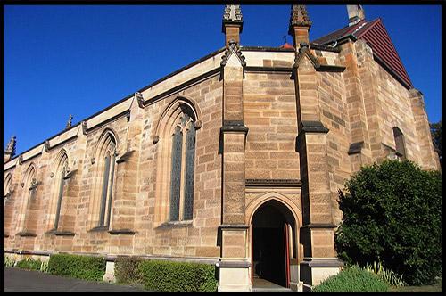 Гарнизонная Церковь, Garrison Church, Церковь Святой Троицы, The Holy Trinity Church, Район Рокс, Скалы, The Rocks, Сидней, Sydney, Австралия, Australia
