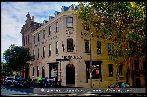 Отель Лорд Нельсон, The Lord Nelson Hotel, Миллерс Поинт, Millers Point, Район Рокс, Скалы, The Rocks, Сидней, Sydney, Австралия, Australia