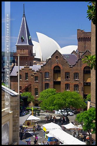Холм Банкерса, Bunkers Hill, Район Рокс, Скалы, The Rocks, Сидней, Sydney, Австралия, Australia
