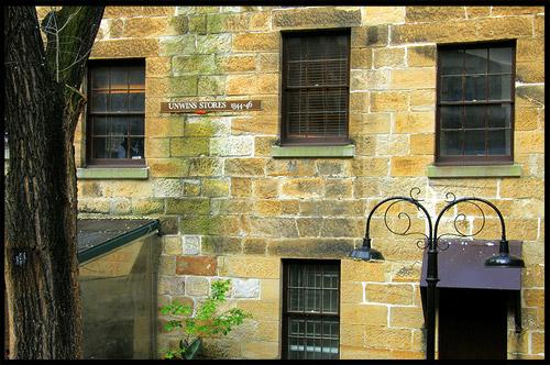 Двор Магазинов Анвин, Courtyard of Unwins Stores, Район Рокс, Скалы, The Rocks, Сидней, Sydney, Австралия, Australia
