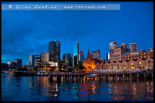 Бухта Кэмпбелл, Campbell Cove, Район Рокс, Скалы, The Rocks, Сидней, Sydney, Австралия, Australia