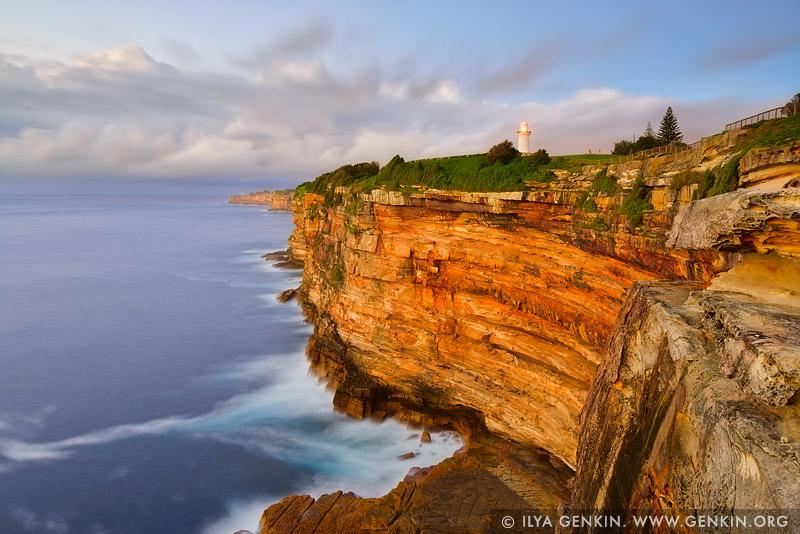 Маяк Маквае, Маяк Маккуори, Macquarie Lighthouse, Вотсонс Бэй, Watsons Bay, South Head, Сидней, Sydney, Новый Южный Уэльс, NSW, Австралия, Australia