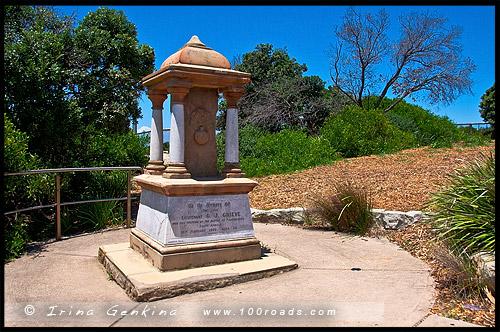 Грив Мемориал, Grieve Memorial, Парк, Провал, The Gap, Мыс Южная Голова, South Head, Вотсонс Бэй, Watsons Bay, Сидней, Sydney, Австралия, Australia