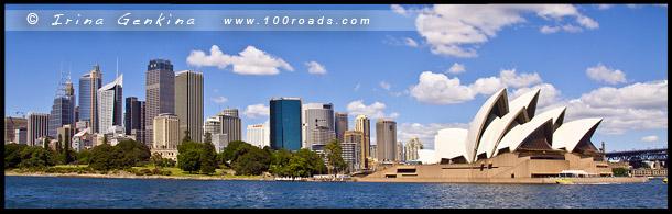 Вид с парома, Сиднейская Опера, Sydney Opera House, высотки Сити, Skyline of City, Сидней, Sydney, Австралия, Australia