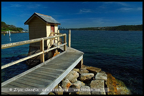 Маяк Хорнби, Hornby Lighthouse, Мыс Южная Голова, Вотсонс Бэй, Watsons Bay, South Head, Сидней, Sydney, Австралия, Australia