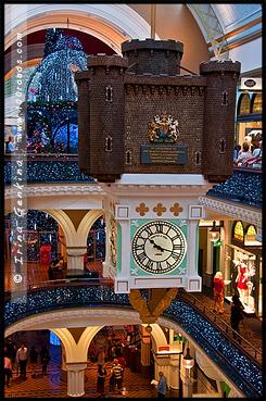 Королевские часы, Royal Clock, Рождественская елка, Swarovski Xmas Tree, Здание Королевы Виктории, Queen Victoria Building, Сидней, Sydney, Австралия, Australia