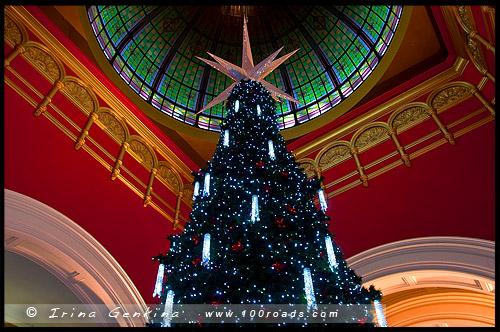 Рождественская елка, Swarovski Xmas Tree, Здание Королевы Виктории, Queen Victoria Building, Сидней, Sydney, Австралия, Australia
