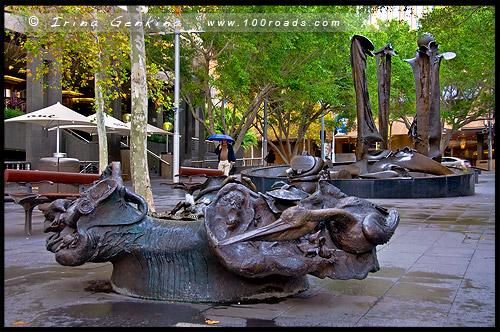 Танк стрим фонтан, Tank Stream Fountain, Баковый ручей, Tank Stream, Сидней, Sydney, Австралия, Australia