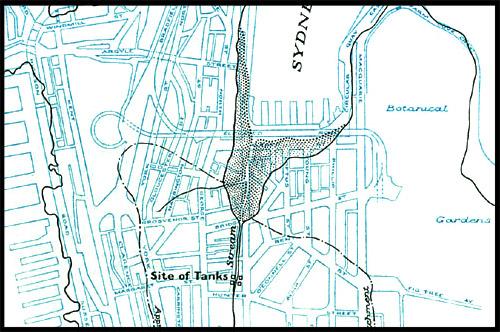 Схема, Баковый ручей, Tank Stream, Сидней, Sydney, Австралия, Australia