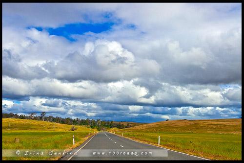 Шоссе Лайелл, Lyell Highway, Тасмания, Tasmania, Австралия, Australia