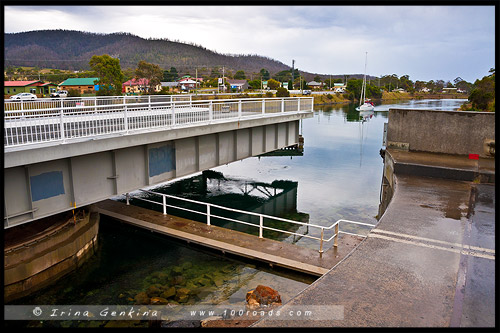 Denison canal, Dunalley, Тасмания, Tasmania, Австралия, Australia