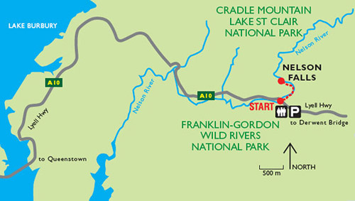 Водопад Нельсон, Nelson Falls, Тасмания, Tasmania, Австралия, Australia