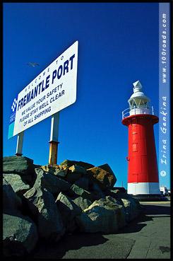 Маяк Северного Мола, North Mole Lighthouse, Фримантл, Fremantle, Перт, Perth, Западная Австралия, Western Australia, WA, Австралия, Australia