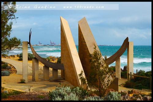 Солнечные часы, Пляж Коттесло, Cottesloe Beach, Перт, Perth, Западная Австралия, Western Australia, WA, Австралия, Australia