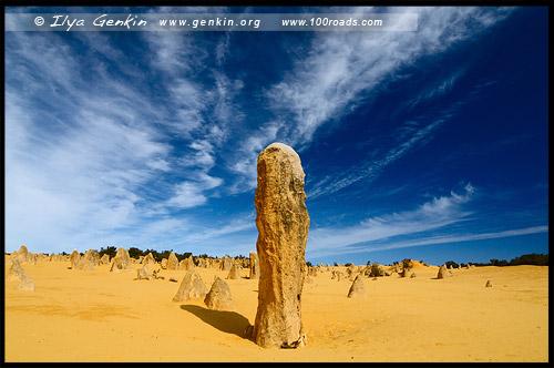 Пустыня Пиннаклс, Pinnacles Desert, Национальный Парк Намбунг, Nambung National Park, Западная Австралия, Western Australia, WA, Австралия, Australia
