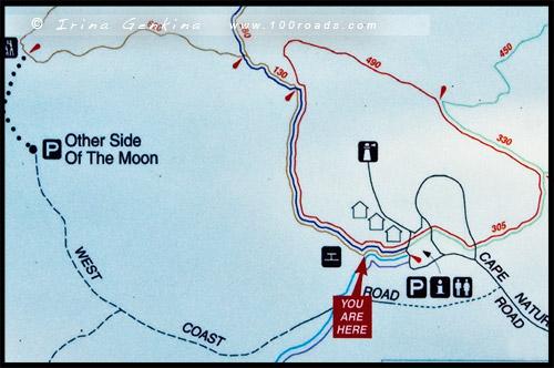 Карта маршрутов, Маяк Натуралист, Naturaliste Lighthouse, Западная Австралия, Western Australia, WA, Австралия, Australia
