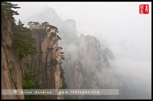 Рассвет с видовой площадки - Начинаю верить, Beginning to believe Peak, 始信峰, Хуаншань, Huangshan, 黄山, Китай, China, 中國, 中国