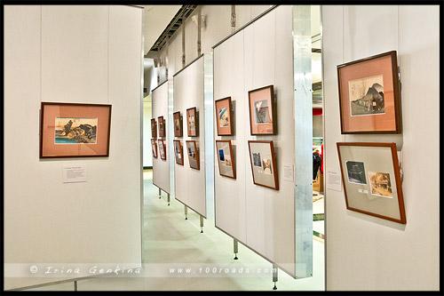 Выставка, 53 станции Токайдо, Fifty-three Stations of the Tokaido, Hoeido version, Japan Foundation Gallery, Сидней, Sydney, Австралия, Australia
