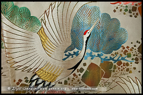 Текстильный Центр Нисидзин, Nishijin Textile Center, Nishijin-Ori Kaikan, 西陣織会館, Камигё-ку, Kamigyo-ку, 上京区, Киото, Kyoto, 京都市, регион Кансай, Kansai, Хонсю, Honshu Island, 本州, Япония, Japan, 日本