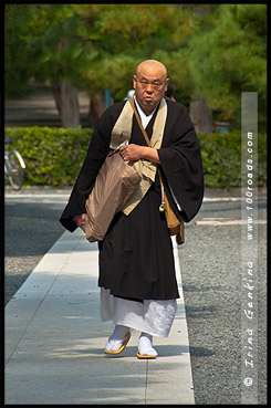 Монах, Рюген-ин, Ryogen-in, 龍源院, Киото, Kyoto, 京都市, регион Кансай, Kansai, Хонсю, Honshu Island, 本州, Япония, Japan, 日本