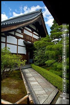 Вход в храм, Рюген-ин, Ryogen-in, 龍源院, Киото, Kyoto, 京都市, регион Кансай, Kansai, Хонсю, Honshu Island, 本州, Япония, Japan, 日本