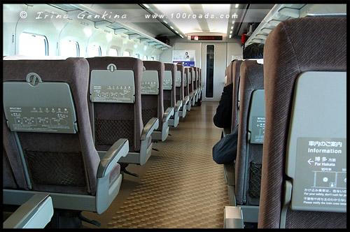 Вагон поезда из Мацумото в Нагою, Киото, Kyoto, 京都市, Хонсю, Honshu Island, 本州, Япония, Japan, 日本